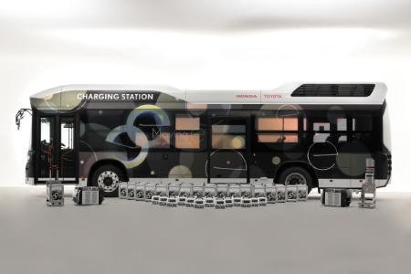Toyota y Honda desarrollan la unidad móvil 'Moving e' para emergencias